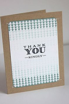 Thank You Kindly Card by Heather Nichols for Papertrey Ink (June 2014)