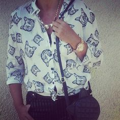 #catprint #blouse #newyorker #outfit