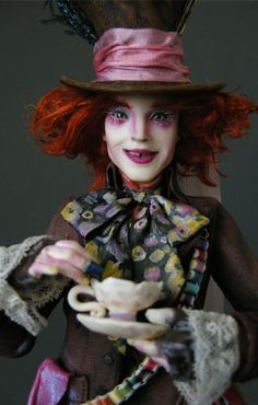 Johnny Depp as the Mad Hatter - Nicole West Fantasy Art