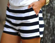 Cute striped shorts #thenewnautical