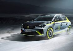 Opel Corsa-e compact electric hatchback will have a rally car variant. E Electric, Chevrolet Blazer, Auto News, Futuristic Cars, Car Images, Rally Car, Hd Backgrounds, Subaru, Peugeot