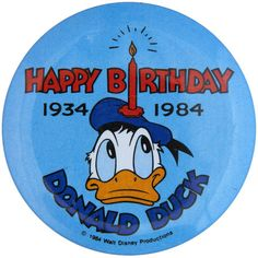80 years ago on June 9, 1934 Donald Duck debuted in the Disney cartoon Wise Little Hen. This and other Disney buttons can be found at TedHake.com!