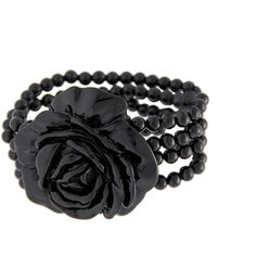 MANGO Bracelet rose Noir (21.300 CLP) ❤ liked on Polyvore featuring jewelry, bracelets, accessories, rose bangle, mango jewelry, rose jewellery and rose jewelry