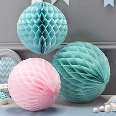 Honeycomb Ball Decoration Honeycomb Paper Ball Decorations  Wedding Party Christening Green