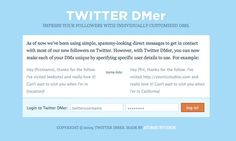 A Free and Simple Tool For Creating Auto DMs on #Twitter