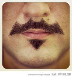 Batman Mustache •☆.•*´¨`*••ツ
