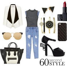 60 second style contest entry by hannderella on Polyvore featuring Ally Fashion, Alice + Olivia, Chanel, CÉLINE, Michael Kors, Anne Klein, 2Me Style, Linda Farrow, NARS Cosmetics and minimalism