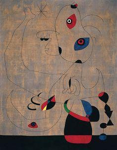 Joan Miró - Spanish Dancer, 1945, oil on canvas, 146.5 x 114.5 cm