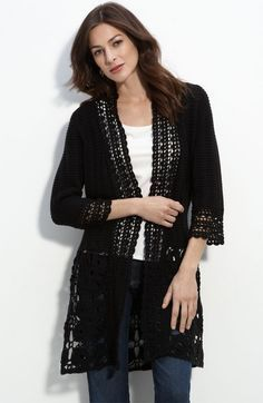 Free Ladies Crochet Jacket Patterns   Long crochet cardigan in Women's Sweaters / Vests at Bizrate