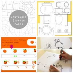 More Printable Art Activity Pages for Kids Ed emberley drawing prompt pages