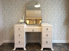 Beautiful Blush Pink Dressing Table with Ornate by Love2Furnish