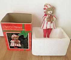 Vintage Gifto Cheery Chimes Christmas Sleepy Bear Bell Ornament NEW