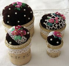 embroidery pincushion silk ribbon embroidery