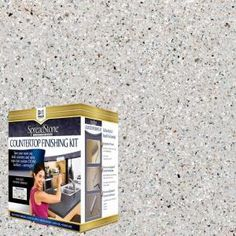 Bring a contemporary touch to your kitchen tabletops or bar tops with this DAICH SpreadStone Mineral Select Onyx Fog Countertop Refinishing Kit. Countertop Refinishing Kit, Countertop Paint Kit, Countertop Makeover, Painting Countertops, Tile Countertops, Countertop Materials, Plywood Countertop, Painting Laminate, Backsplash