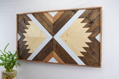 Wood Wall Art  Contemporary Geometric Wood by RoamingRootsWoodwork