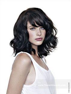JEAN LOUIS DAVID Mittel Schwarz weiblich Wellig Shaggy Farbige Lautstärke Choppy Französisch Frauen Haarschnitt Frisuren hairstyles