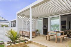 Pergola Ideas For Patio Front Yard Design, Deck Design, House Design, 1960s House Renovation, House Renovations, Outdoor Rooms, Outdoor Living, Outdoor Areas, Diy Pergola