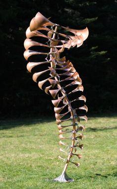 Line Sculpture, Outdoor Sculpture, Metal Garden Art, Metal Art, Kinetic Wind Art, Anthony Howe, Chen, Michael In The Bathroom, Magic Garden