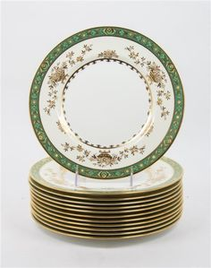 A Set of Twelve Minton Dinner Plates, Retailed by Tiffany & Co. Diameter 10 5/8 inches. - Estimate: $100 - $200