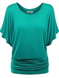 #ProductReviewParty Review: Amstt Womens Pure Color Short Sleeve Boat Neck Dolman Drape Tunics Top | Paulette's Papers