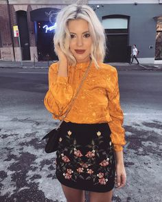 1,301 Likes, 13 Comments - Laura Jade Stone (@laurajadestone) Topshop Embroidered skirt