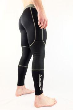 3bf65e0c87fd0 Men's Bracelayer Knee Compression Pants | Bracelayer Compression Apparel  Running Tights, Gym Wear, Sport