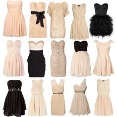 need a dress to wear to my bf's sisters wedding...  short champagne or summery hi-low hem? decisions decisions