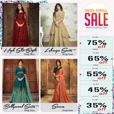 Bored with your daily wardrobe? Spruce it up with the new collection and get upto 75% off on entire store at Inddus.  #Inddus #DiwaliSale #DiwaliShopping #DiwaliOffer #DiwaliDiscounts #pakistanistreetstyle #partywearandstylish #shoponline #ethnicwear #desicouture #festive #collection #indianwardrobe #indianfashion #Canada #Australia #southAfrica #USA #London #America #musthave #Fashion #beauty #UK #Mauritius #India #Malaysia #Singapore #FreeShipping Beauty Uk, Fashion Beauty, Diwali Sale, Indian Dresses Online, Pakistani Street Style, Lehenga Style, Suits For Sale, Free Clothes, Mauritius