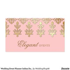 Wedding Event Planner Indian Damask Baby Pink