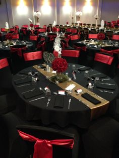 Sails Function Room (School Formal).  For bookings or enquiries, please contact Catering Manager, David Frost, on:   P: 07 4152 1531 E: david.frost@acrossthewaves.com Red Wedding Decorations, Quince Decorations, Quinceanera Decorations, Sweet 16 Masquerade, Red Centerpieces, Our Wedding, Dream Wedding, Quinceanera Planning, 70th Birthday Parties
