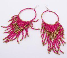 Glass-make-beaded-tassel-earrings-2014-new-women-s-fashion-bohemian-beaded-earrings-big-exaggeration-nation.jpg (585×513)