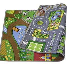 Reversible playmat road and farm buy online from the rug seller uk - Kids Rugs - Play Mats