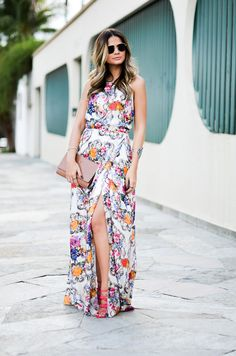 vestido longo estampado: casual e elegante no dia a dia