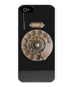 Every tech guru deserves a case that both protects and dresses up an iPhone. This lightweight, snap-on design features a rubberized matte finish and a nostalgic rotary phone motif that can't help but grab attention.