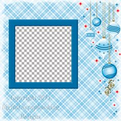 "Layout QP 1.....Quick Page, Blue, Digital Scrapbooking, Christmas Time Collection, 12"" x 12"", 300 dpi, PNG File Format"