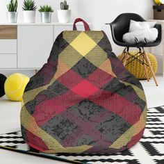Exclusive Tartan Bean Bag Chair – This is iT Original Chair One, Bag Chairs, Brand Store, Tartan, Bean Bag Chair, Custom Made, Beans, Relax, Just For You