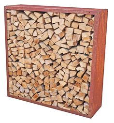 Kaminholzregal-Bausatz Edelrost. Maße 158x158cm Tiefe 35cm, Normal-Stahl DC01 Log Store, Fort Knox, New Kitchen Designs, Firewood, Outdoor Living, Garden Design, Backyard, Modern, Garage