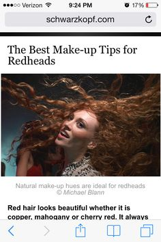 So much help! I thought it was impossible for red heads to wear make up, but this website has a lot of tips! (Not just for red heads)  http://m.schwarzkopf.com/sk/en/home/hair_colour/red_hair/colouring_advice/makeup_for_redheads.mobile.html