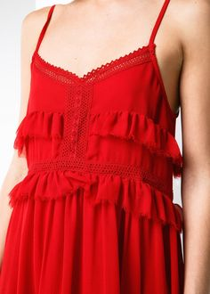 Crochet long dress   MANGO