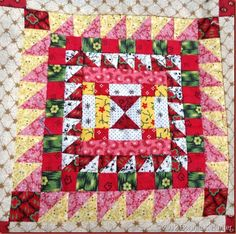 Nearly Insane quilt block by Bonnie K. Hunter at Quiltville