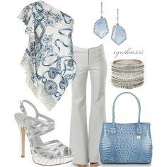 slate blue + gray + silver