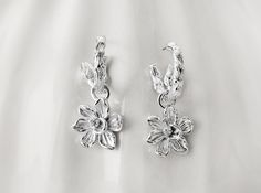 #Magnolia design dangle #earrings from JTV's #Arthur #Court #jewelry collection