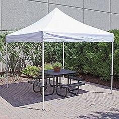 Aluminum Frame Canopy - 10 x 10u0027 White H-2675W - Uline & Stansport Dining Canopy 12u0027 x 12u0027 - Walmart.com | Craft Fair ...