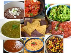 Chips and Salsa bar...with dips, guac, queso, etc