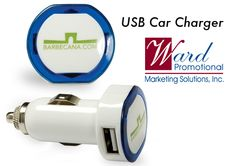This USB charger allows you to charge up to two devices from your auto lighter outlet. 12V to 24V DC power for charging laptops, iPad, cell phones or any other device with a standard USB connection. Lifetime Guarantee. Supplier is QCA certified. Complies with CPSIA, C-TPAT, Prop 65. $7.95 http://wardpromotional.com/:quicksearch.htm?quicksearchbox=JHLGJ-ICQGR
