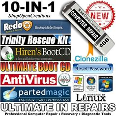 Best price on 10 in 1 Ultimate Hiren's Computer Repair 4GB USB Bootable Flash Drive - Computer Rescue - Virus Removal - Data Recovery - Windows Password Reset - Backup Clone - Support Windows 7, Vista, XP and 2000 //   See details here: http://softwarepush.com/product/10-in-1-ultimate-hirens-computer-repair-4gb-usb-bootable-flash-drive-computer-rescue-virus-removal-data-recovery-windows-password-reset-backup-clone-support-windows-7-vista-xp-and-2000/ //  Truly a bargain for the inexpensive…