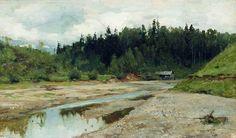 Rivière dans la forêt, 1886 de Isaac Levitan (1860-1900, Lithuania)