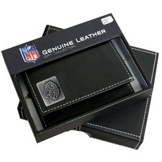 Jacksonville Jaguars Trifold Wallet With Metal Logo by Team Sports America. $28.85. 100% Leather. Tri Fold Wallet. Leather. Pewter Finished Team Logo. Keep your money and your team close to the hip with our exclusive leather tri-fold wallet. These wallets are made of high quality, fine grain leather and displays your favorite team's pewter finished logo. These wallets come in a protective gift case and make great gifts for all NFL sports fans.