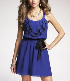 Express love! I totally have this dress in strawberry pink. :)