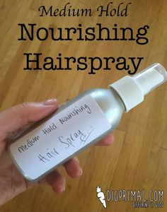 Medium Hold Nourishing Hairspray...love this stuff! Click to see the recipe.